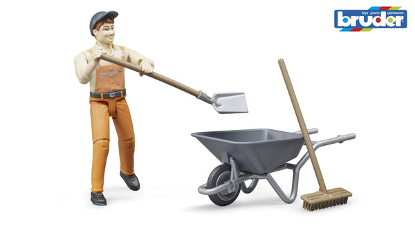 Bruder - Bworld Figure - Set municiple worker (62130) - Toot Toot Toys