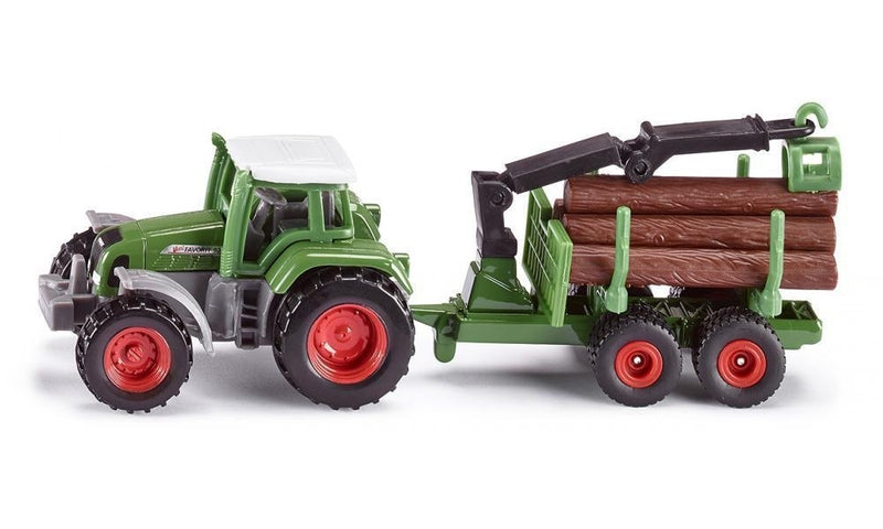 Siku - Tractor with Forestry Trailer (1645) - Toot Toot Toys