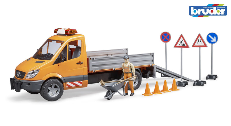 Bruder - 1:16 Mercedes Benz Sprinter Municipal Vehicle with Driver and Accessories (02537) - Toot Toot Toys