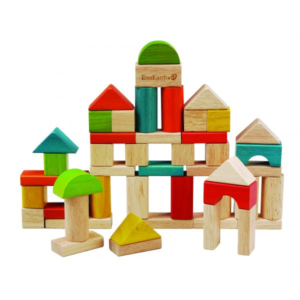 EverEarth Bamboo 50pc Building Block Set