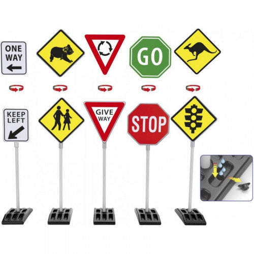 Theo Klein Australian Traffic Signs - 5 Pack
