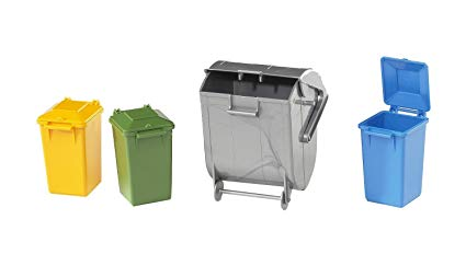 Bruder World Accessories: Garbage Can Set (02607) - Toot Toot Toys