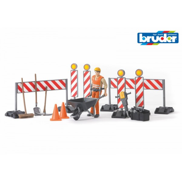 Bruder World Figure Set - Construction (62000) - Toot Toot Toys