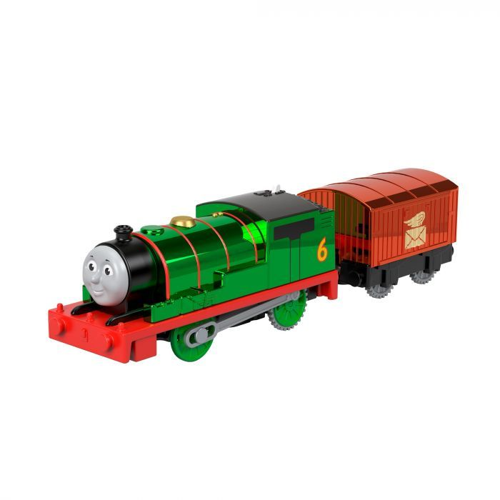 Trackmaster - Motorised Celebration Percy -  75th Anniversary Thomas Special