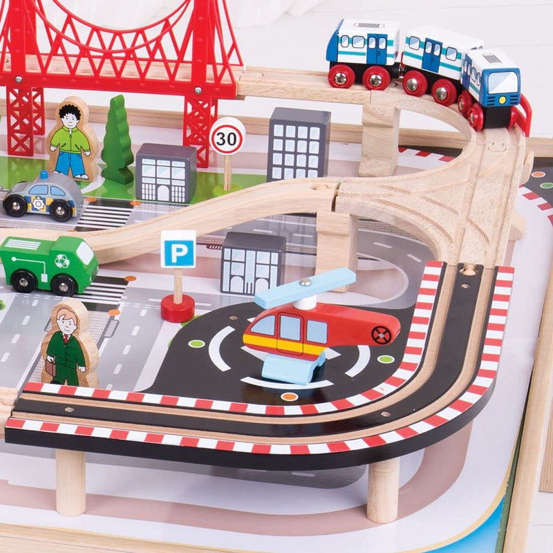 Bigjigs - City Train Set and Table