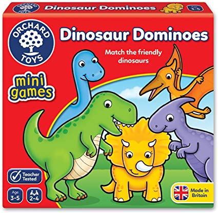 Orchard Toys – Mini Games - Dinosaur Dominoes