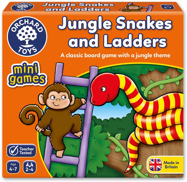 Orchard Toys – Mini Games - Jungle Snakes & Ladders