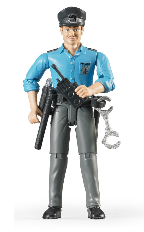 Bruder - Bworld Figure - Policeman light skin with Accessories (60050) - Toot Toot Toys
