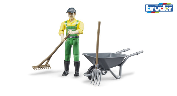Bruder - Bworld Figure - Farmer Set (62610) - Toot Toot Toys