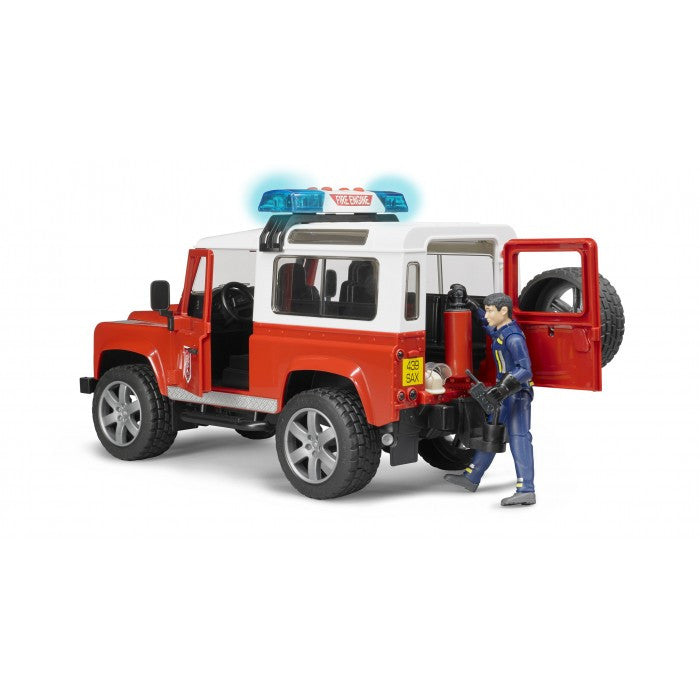 Bruder - 1:16 Land Rover Defender Wagon - Fire Department (02596) - Toot Toot Toys