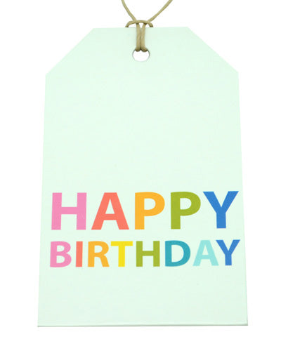Gift Tag - Bright Happy Birthday