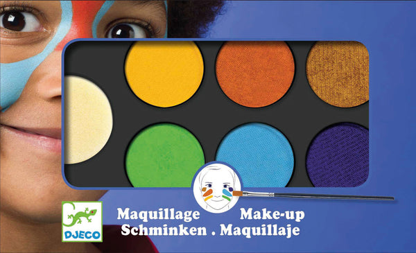 Djeco - Face painting Art Palette 6 Colours - Toot Toot Toys