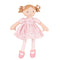 Bonikka - Amelia Linen Doll With Brown Hair