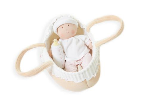 Bonikka - Grace Baby Doll in Carry Cot with Bottle and Blanket