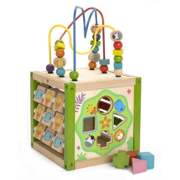 EverEarth Bamboo My First Multi-Play Activity Cube - Toot Toot Toys