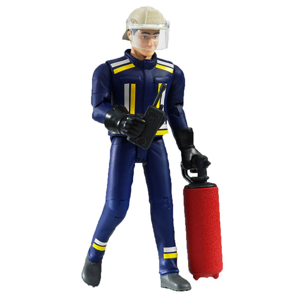 Bruder - Bworld Figure - Fireman with Helmet, Gloves and Accessories (60100)