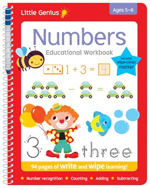 Little Genius Write and Wipe Numbers