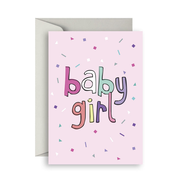 Greeting Cards- Confetti Baby Girl - Toot Toot Toys