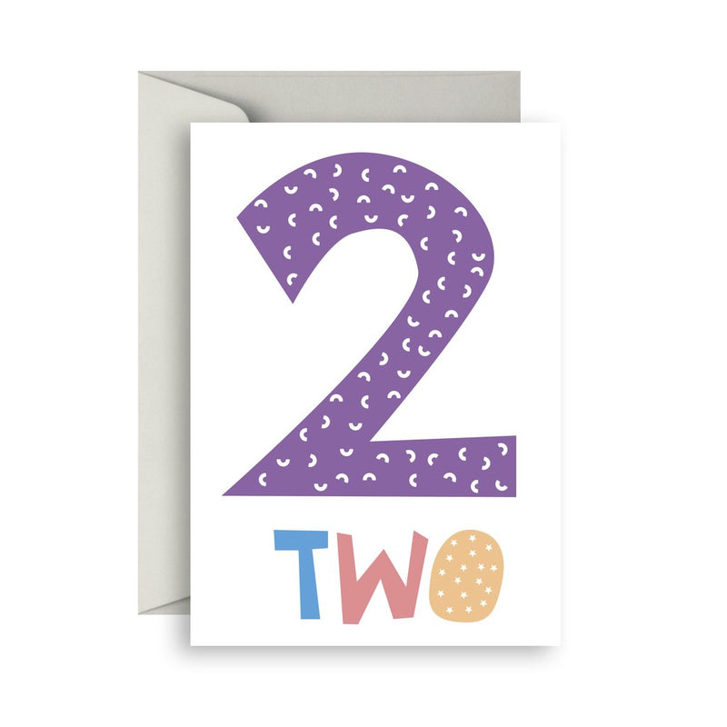 Number Birthday Cards- 2 - Toot Toot Toys