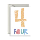 Number Birthday Cards- 4 - Toot Toot Toys