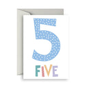 Number Birthday Cards- 5 - Toot Toot Toys