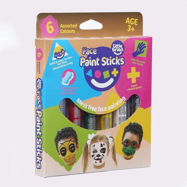 Little Brian Face Paint Sticks - Assorted 6pk