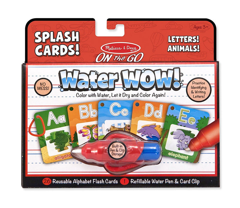 Melissa & Doug – On the Go - Water WOW! Splash Cards - Letters & Animals - Toot Toot Toys