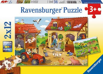 Ravensburger - Working on the Farm 2x12pc - Toot Toot Toys