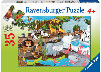 Ravensburger - Day At The Zoo Puzzle 35 piece - Toot Toot Toys