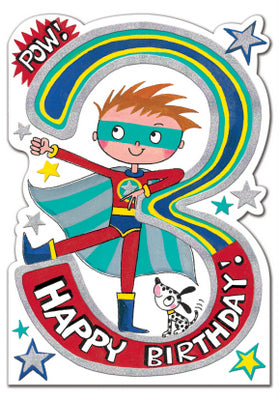 Birthday Card - 3rd Birthday Superhero