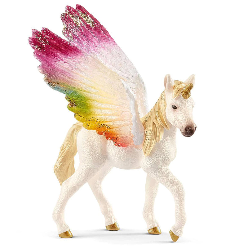 Schleich - Winged Rainbow Unicorn Foal (70577) - Toot Toot Toys