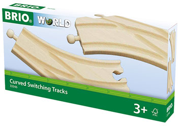 BRIO - Curved Switching Tracks (33346) - Toot Toot Toys