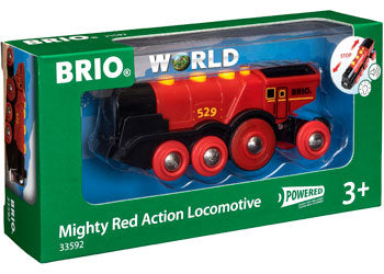 BRIO - Mighty Red Action Locomotive (33592) - Toot Toot Toys
