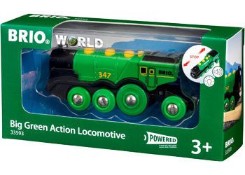 BRIO - Big Green Action Locomotive (33593) - Toot Toot Toys