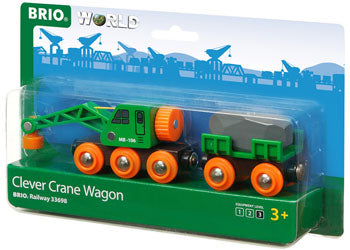 BRIO - Clever Crane Wagon (33698) - Toot Toot Toys