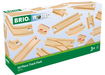 BRIO - 50 Piece Track Pack (33772) - Toot Toot Toys