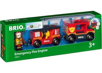 BRIO - Emergency Fire Engine (33811) - Toot Toot Toys