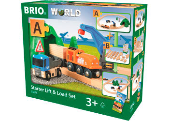 BRIO - Starter Lift & Load Set, 19 pieces (33878) - Toot Toot Toys