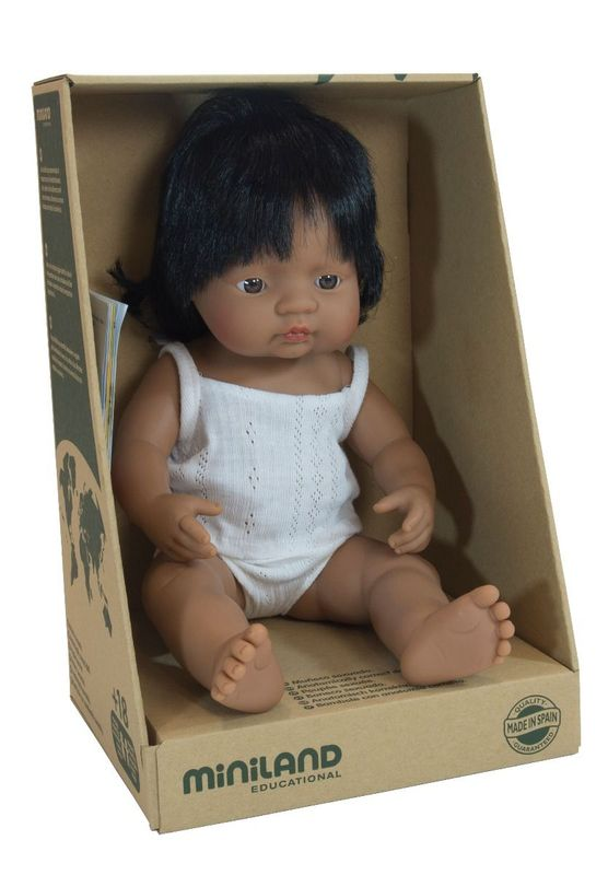 Miniland - Baby Doll - Hispanic - Girl (38cm)