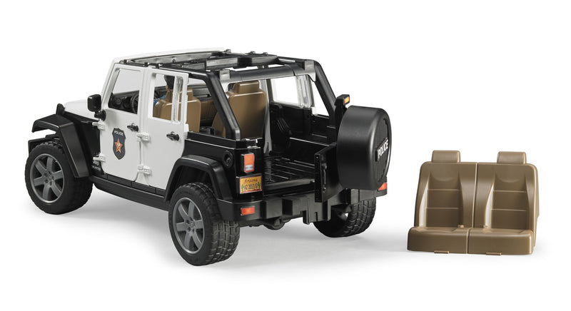 Bruder - JEEP Wrangler Rubicon Police with L&S + Accessories (02526) - Toot Toot Toys