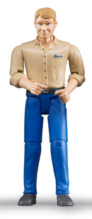 Bruder - Bworld Figure - Man, light skin in Blue Jeans (60006) - Toot Toot Toys