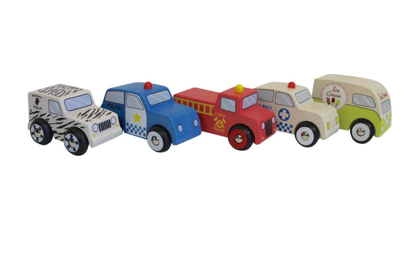 Discoveroo - Emergency Car Set (Set of 5) - Toot Toot Toys