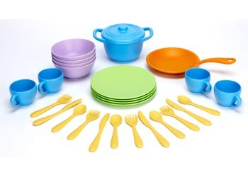 Green Toys - Cookware Dining Set 26pc - Toot Toot Toys