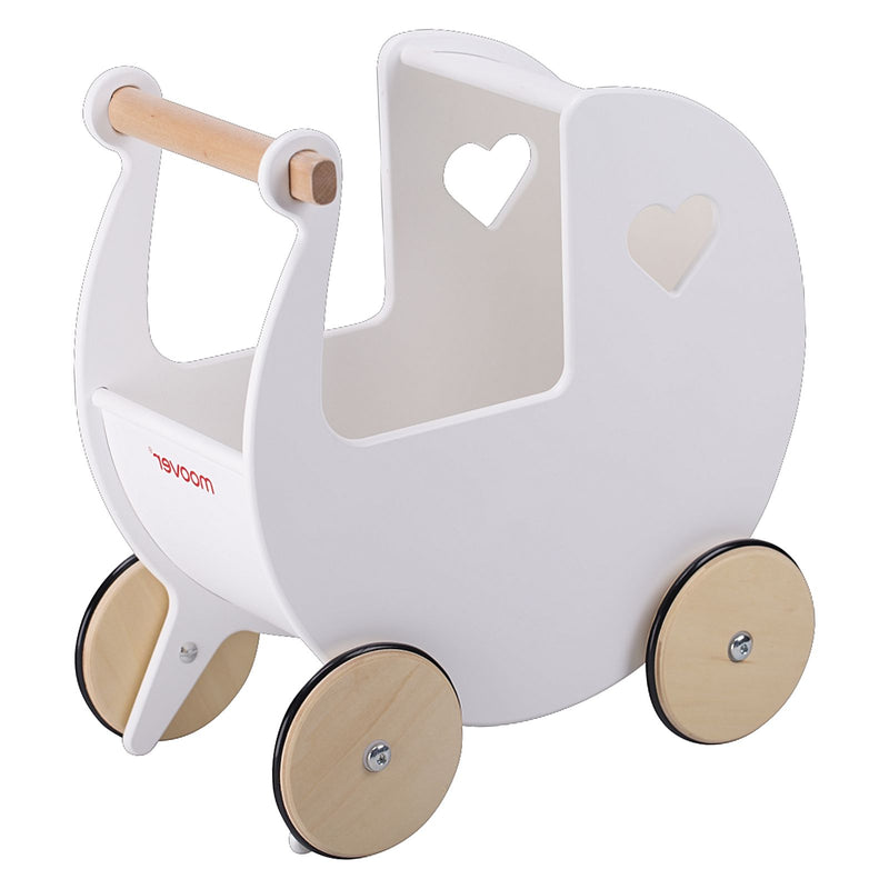 Moover - Classic Dolls Pram White - Toot Toot Toys