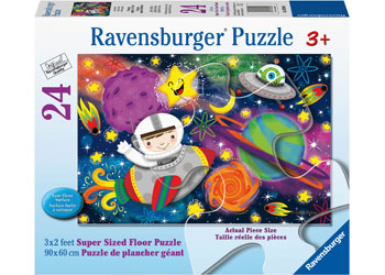 Ravensburger - Space Rocket 24 pc Supersized Floor Puzzle
