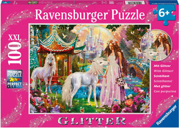 Ravensburger - Unicorn World Glitter Puzzle 100 pc XXL