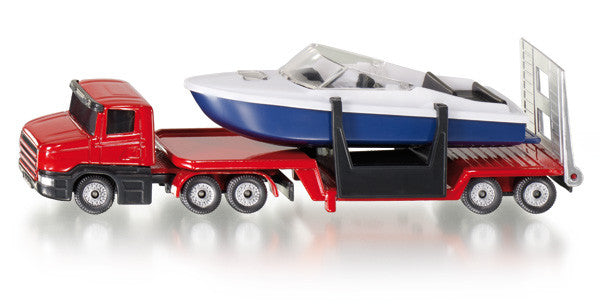 Siku - Low Loader With Boat - Toot Toot Toys