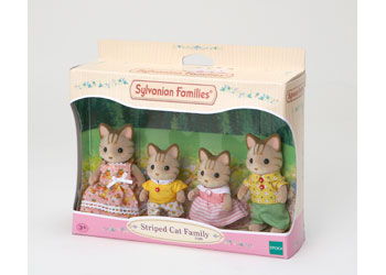 Sylvanian Families - Striped Cat Family - Toot Toot Toys