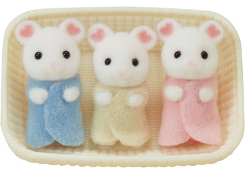 Sylvanian Families - Marshmallow Mouse Triplets - Toot Toot Toys
