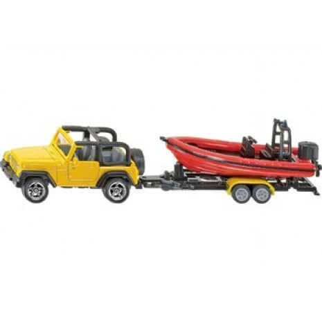 Siku - Jeep with Boat - Toot Toot Toys